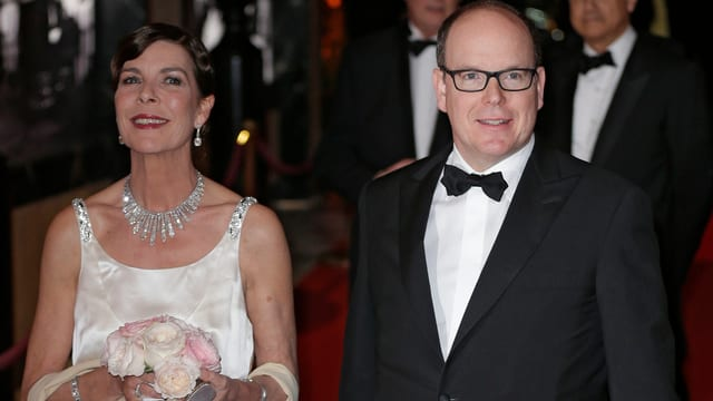 Fürst Albert und Prinzessin Caroline.