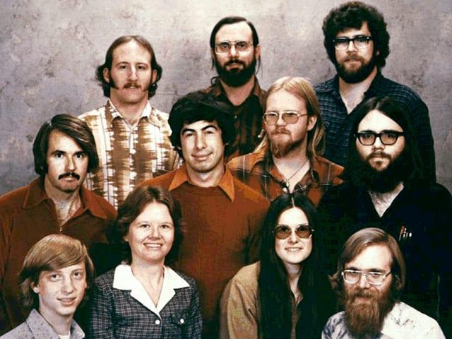 Team-Foto von Microsoft aus dem Jahr 1978