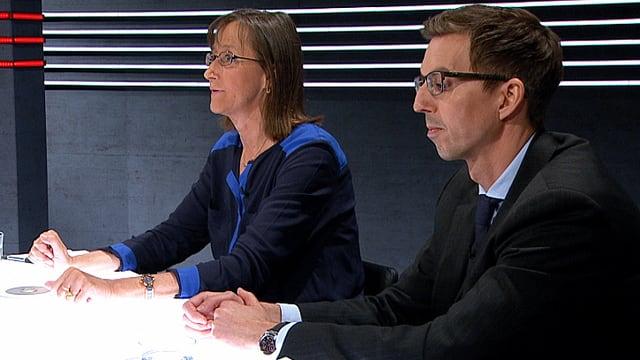 Denise Efionayi-Mäder und Claudio Martelli sitzen am Expertenpult.