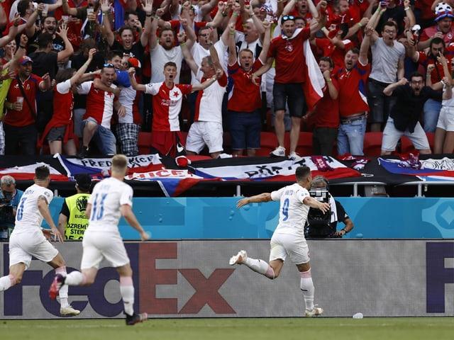 Tomas Holes bejubelt das 1:0 gegen die Niederlande.