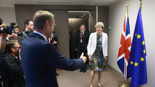 Donald Tusk und Theresa May