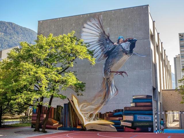 Street Art am Schulhaus Lachen