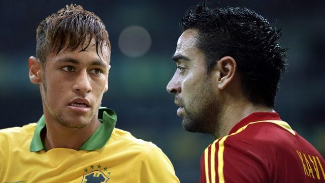 Neymar trifft im Final auf seinen neuen Barcelona-Teamkollegen Xavi Hernandez.