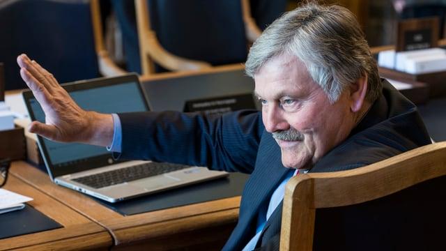 Fühlt sich noch fit und «im Saft»: SVP-Nationalrat Hans Fehr darf nochmal.