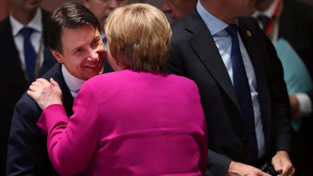 Conte mit Merkel
