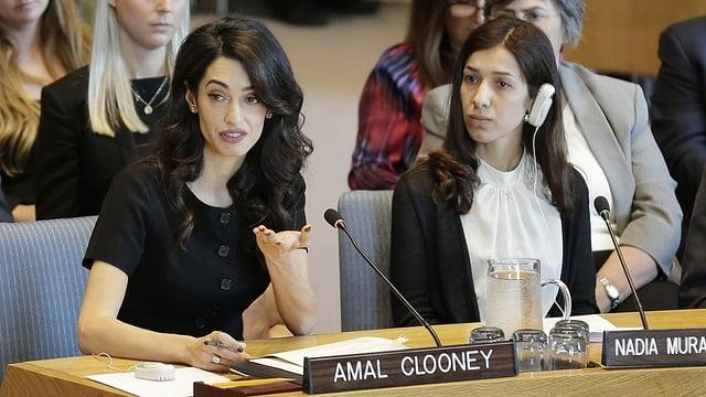 Amal Clooney im UNO-Sicherheitsrat