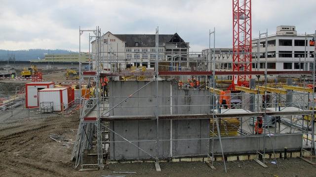 Baustelle «Im Lenz» beim Hero-Areal Lenzburg.