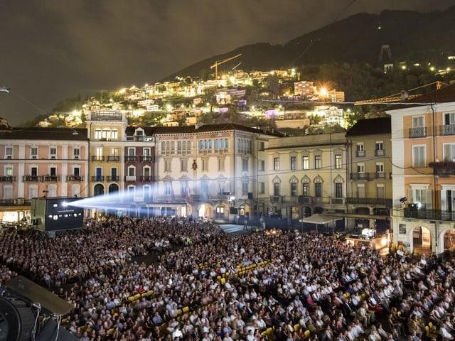 Piatta Grande a Locarno durant il Locarno Festival.