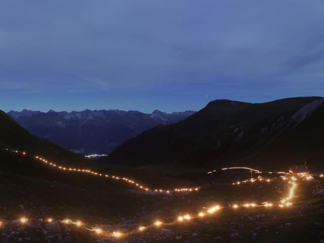 Lichtzeichnung in Davos