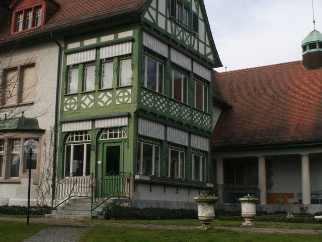 Die Villa Langmatt mit dem angefügten Galeriebau