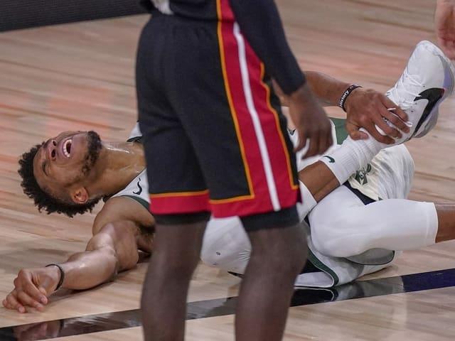 Giannis Antetokounmpo nach seiner Verletzung.