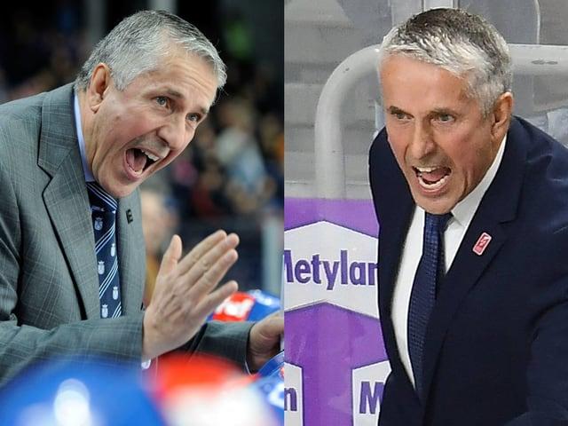 Bob Hartley als Lions-Coach und als lettischer Nationaltrainer.