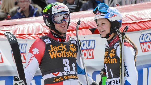 Justin Murisier und Charlotte Chable
