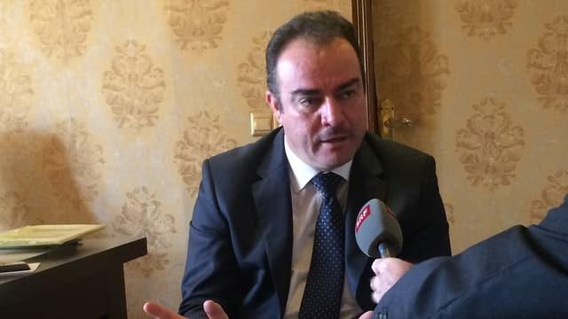 Der kurdische Politiker Aras Khoshnaw (KPD) in Erbil.