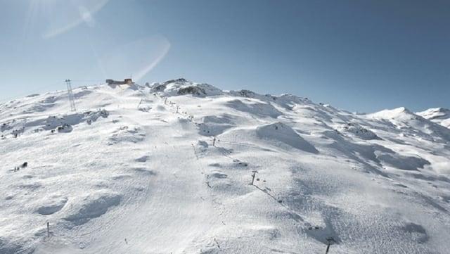 Il territori da skis Arena Alva cun il Crap Son Gion.