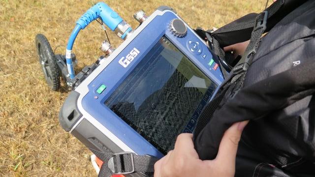 Ein Bildschirm eines Gerätes ist zu sehen.