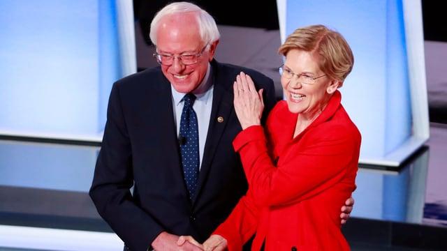Bernie Sanders ed Elizabeth Warren.