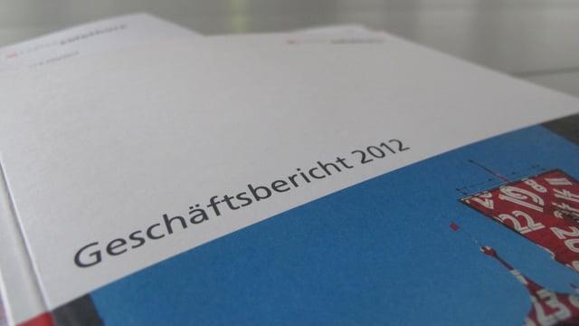 Der Geschäftsbericht 2012 der Solothurner Regierung (Nahaufnahme).