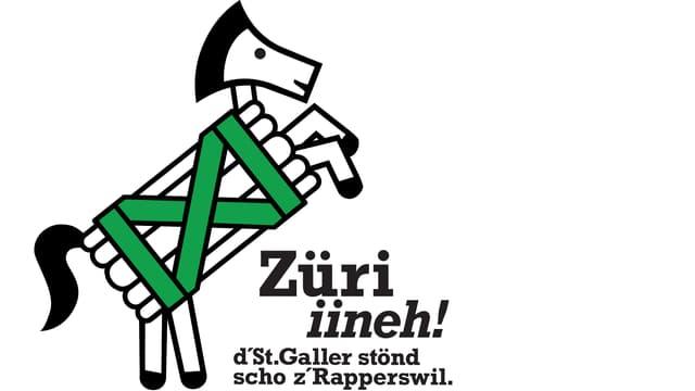 St. Galler Logo für den Auftritt am Zürcher Sechseläuten