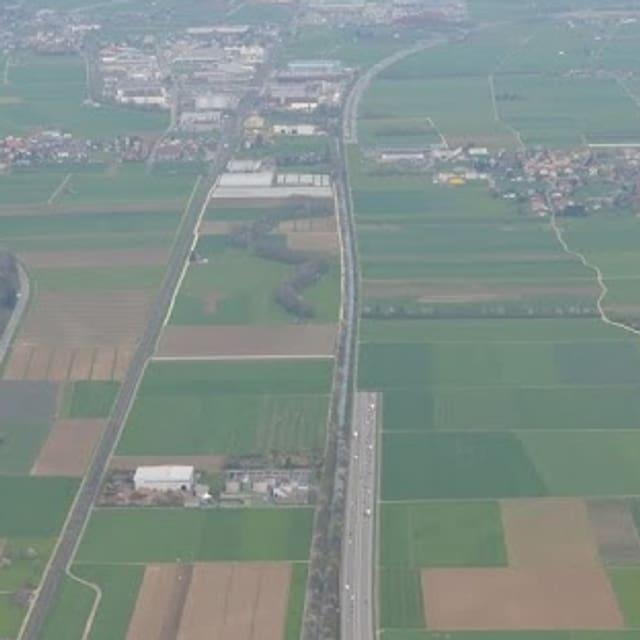 Eine Fotomontage des Komitees zeigt von oben, wo die Autobahn im Tunnel verschwinden würde.