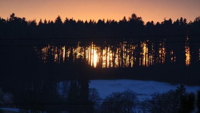 Heute erleben wir, zumindest theoretisch, den frühesten Sonnenuntergang.