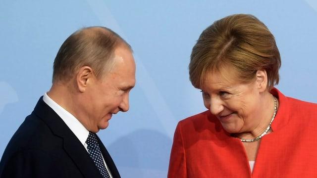Merkel und Putin beim G20-Gipfel vom letzten Sommer in Hambur