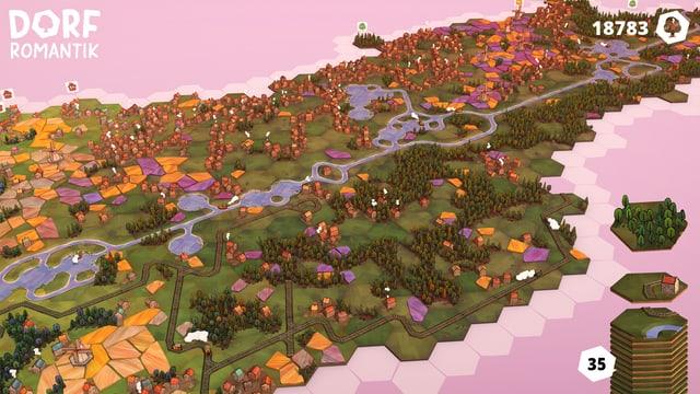 Das kleine Dorf wird allmählich zum Grossbauprojekt.