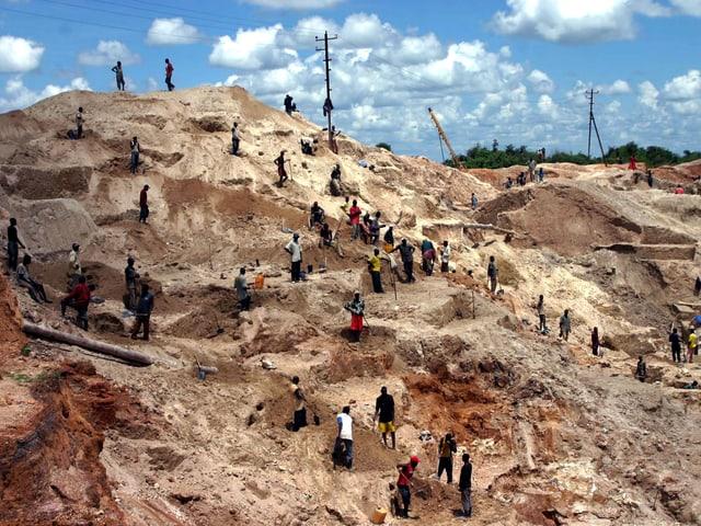 Eine Goldmine in Ghana