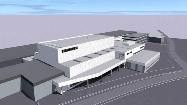 Modell des Neubaus der Firma Liebherr