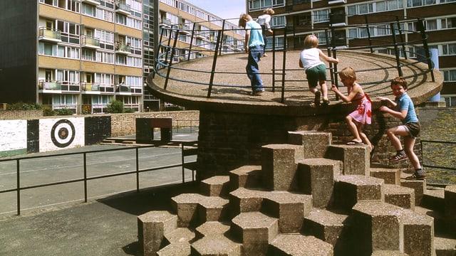 Die Londoner Siedlung «Churchills Garden», 1978.