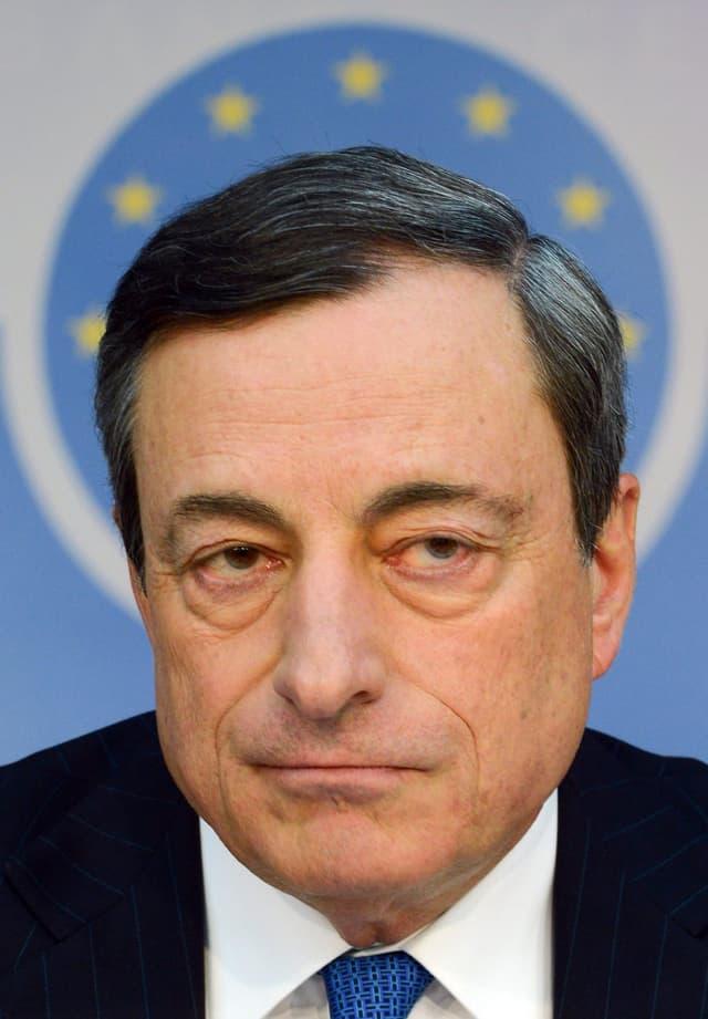 Portrait von Mario Draghi