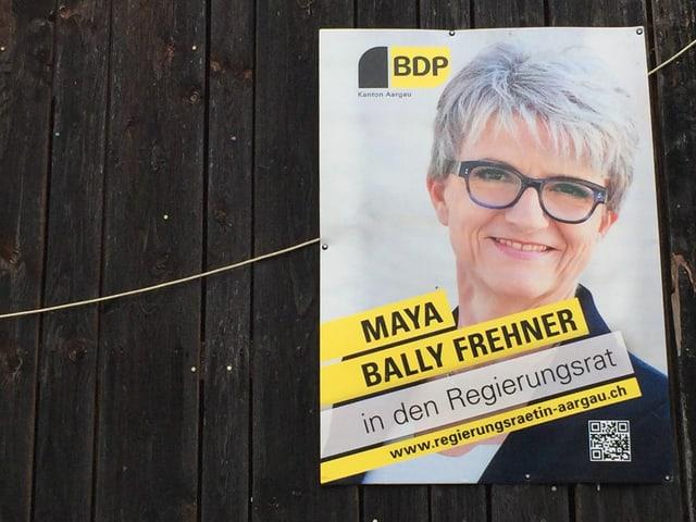Wahlplakat von Maya Bally