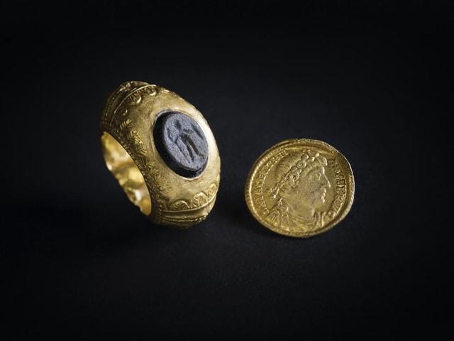 Goldfunde aus einer römischen Villa in Pratteln.