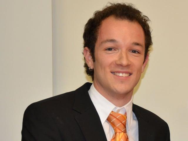 Preisträger Meinrad Koch, Student der Lebensmitteltechnologie.
