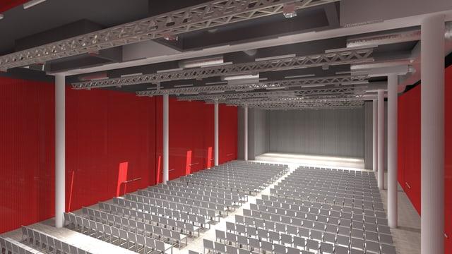 Visualisierung des Campussaals