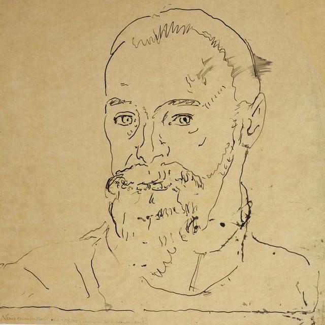 Selbstporträt von Ferdinand Hodler (1915).