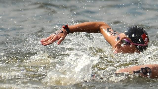Swann Oberson ist die einzige Schweizerin in den Open-Water-Rennen.