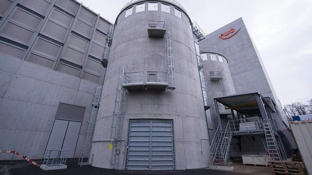 Die Energiezentrale Forsthaus von Energie Wasser Bern