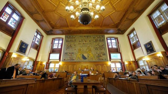 Blick in den Gemeinderatssaal.