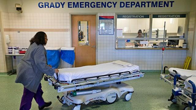 Pflegerin in der Notfall-Aufnahme.