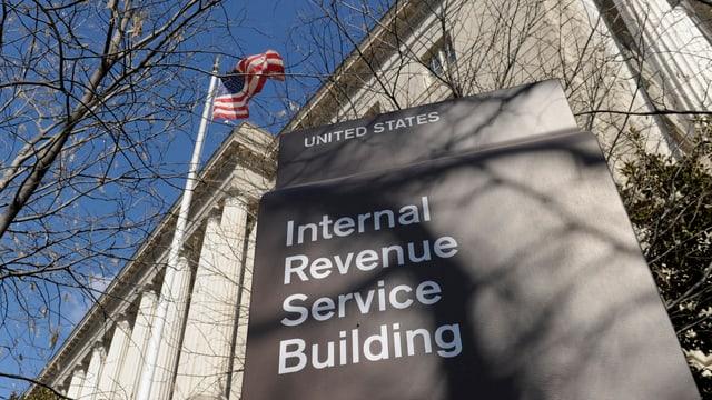 Gebäude der amerikanischen Steuerbehörde IRS