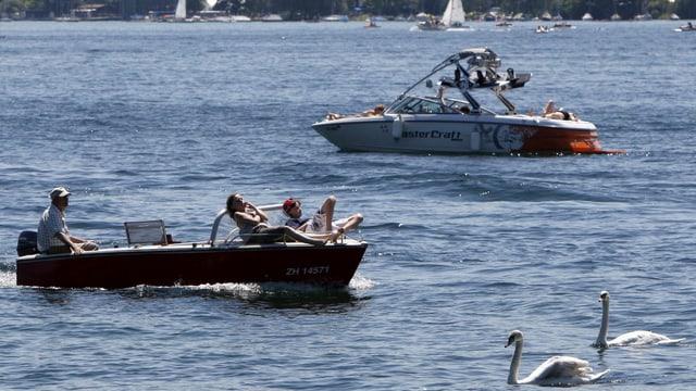 Boote auf dem Zürichsee