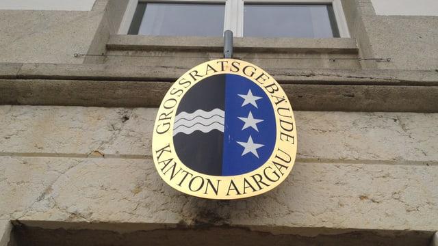 Aargauerwappen am Grossratsgebäude.