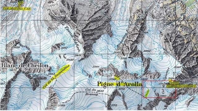 Swisstopo-Karte des Unglücksorts