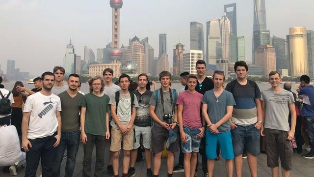 Gruppenfoto Lehrlinge in Shanghai