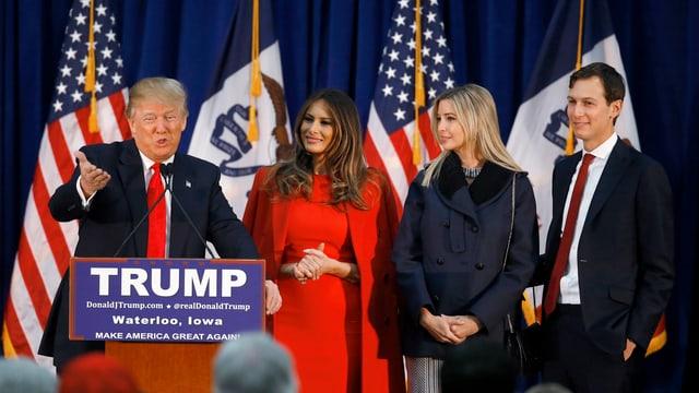 Purtret da la famiglia Trump.