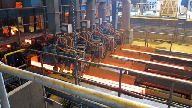Stahlproduktion in Emmen