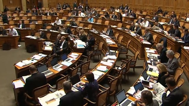 Blick in den Nationalratssaal während der Energiedebatte im November 2014.