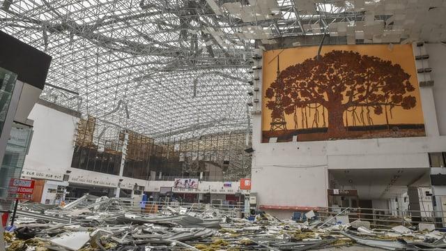 Der verwüstete Flughafen von Vishakapatnam
