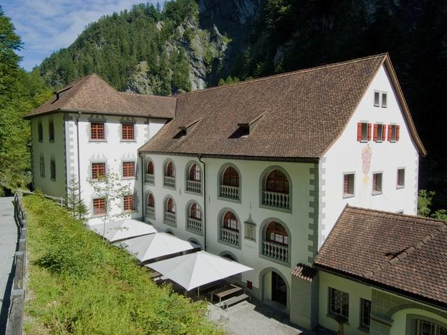 Badhaus des alten Bades Pfäfers in der Schlucht